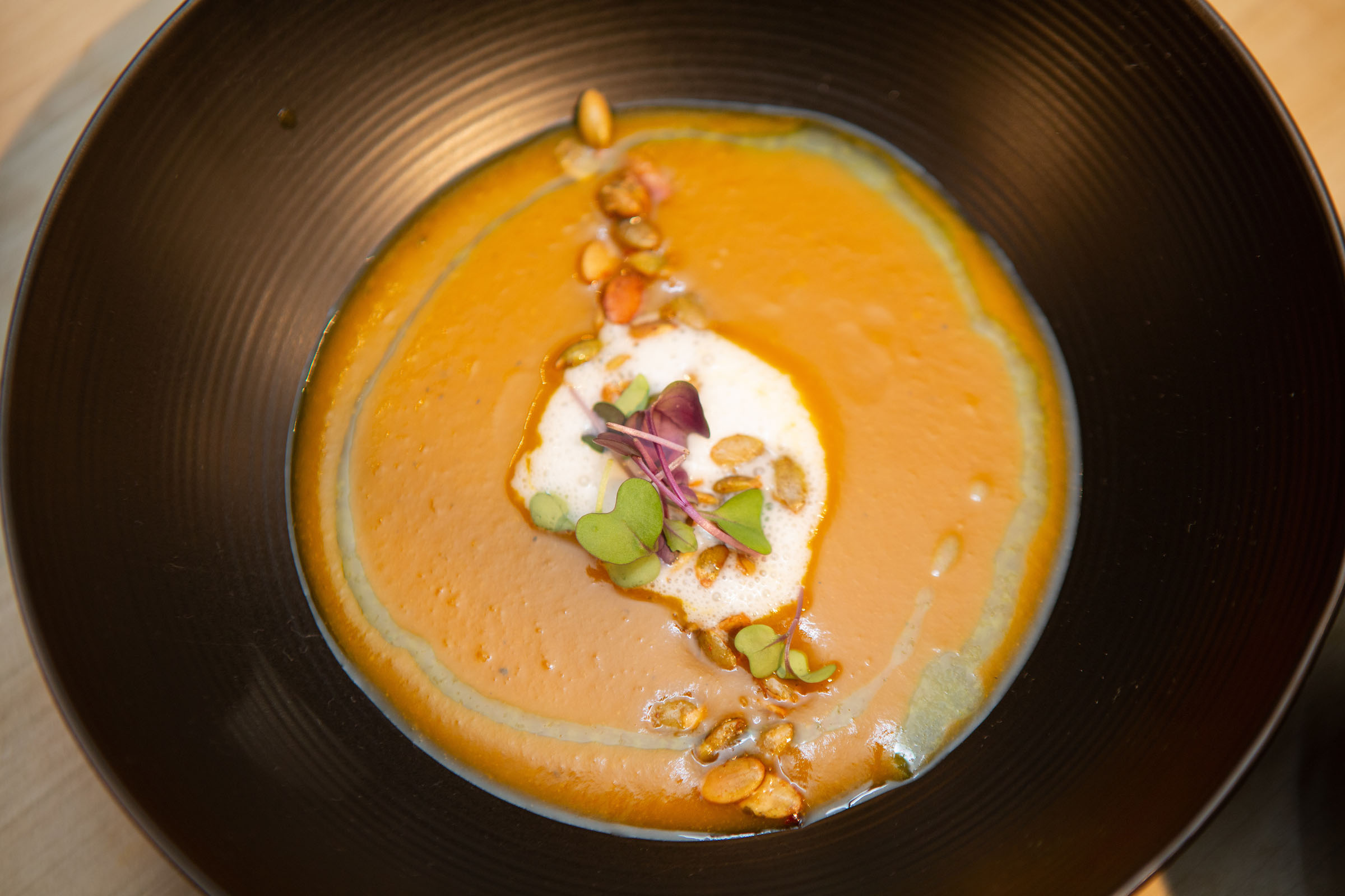 Roasted Pumpkin Coconut Bisque